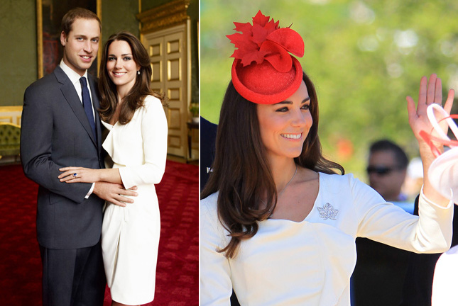 Kate Middleton recycled Reiss dress worn for official engagement photo shoot