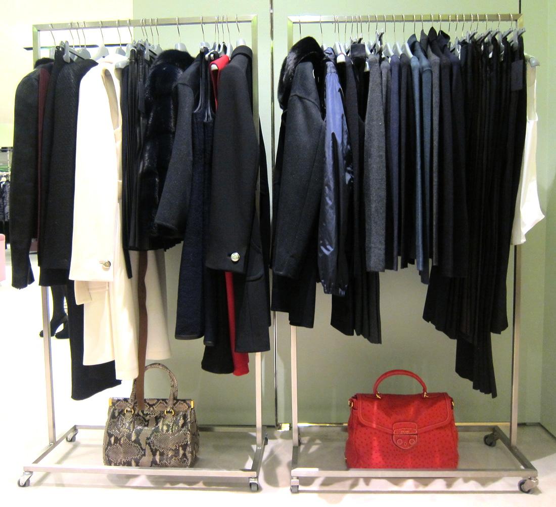 Lining up a wardrobe at Prada