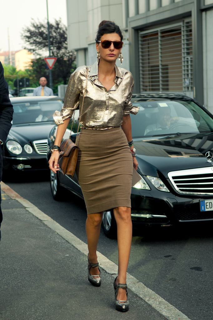 Giovanna Battaglia during Milan Fashion Week