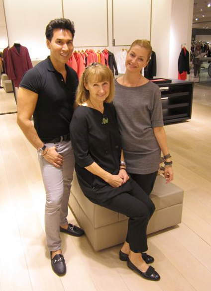 Jesse and Lisa Marie with Anna Marie at Neiman Marcus