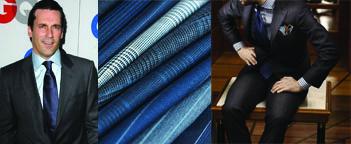Jon Hamm, Suiting Fabrics, Pattern Mixing