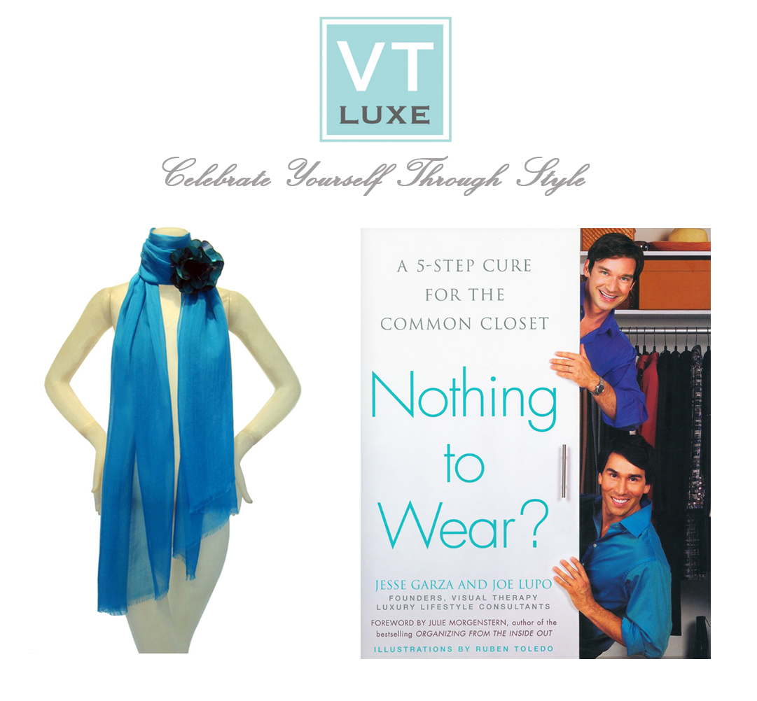 "VT Luxe Solid Wrap Scarf with Detachable Flower Pin and ""Nothing to Wear"""
