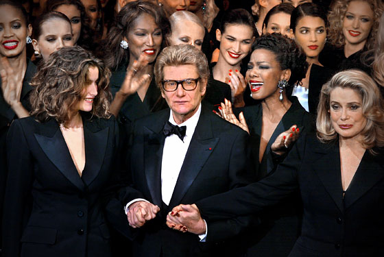 Yves Saint Laurent in 2002. Photo courtesy of Getty Images
