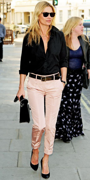 Kate Moss channeling classic chic style