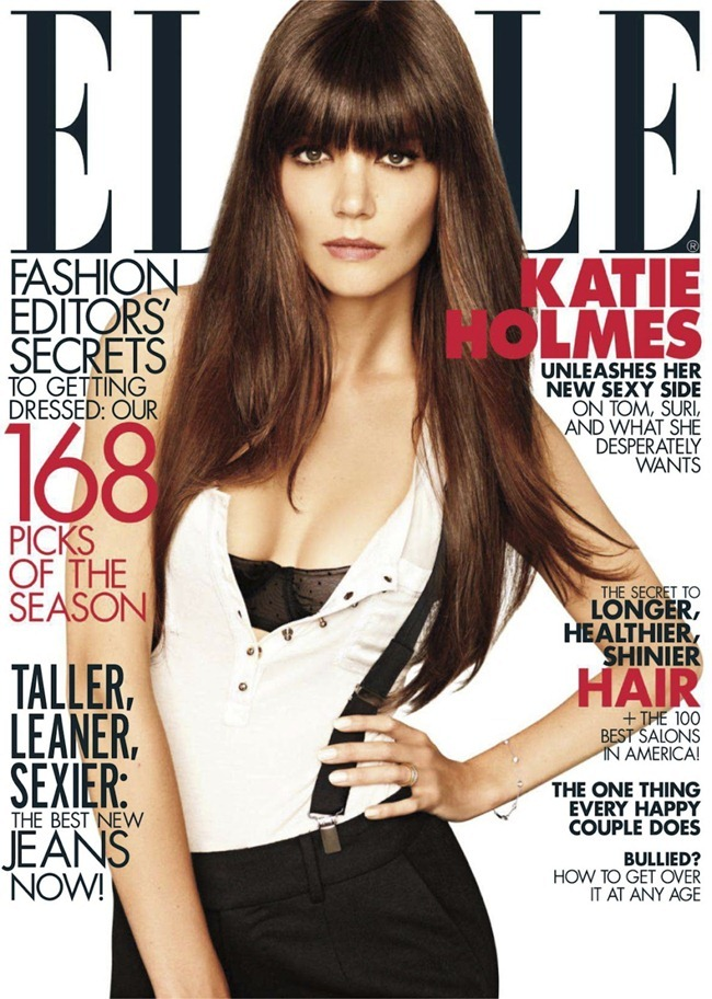 Katie  Holmes Elle Cover August 2012