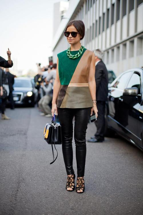 Miroslava Duma during Spring 2013 Milan Fashion Week. Photo courtesy of Diego Zuko