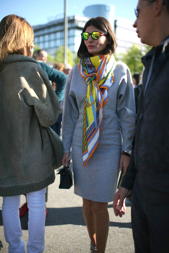 Giovanna Battaglia during Paris Fashion Week