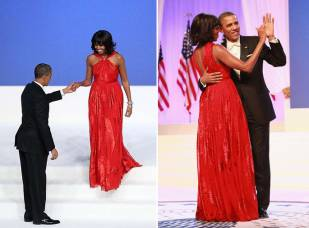 Michelle Obama wearing Jason Wu for the inauguration ball