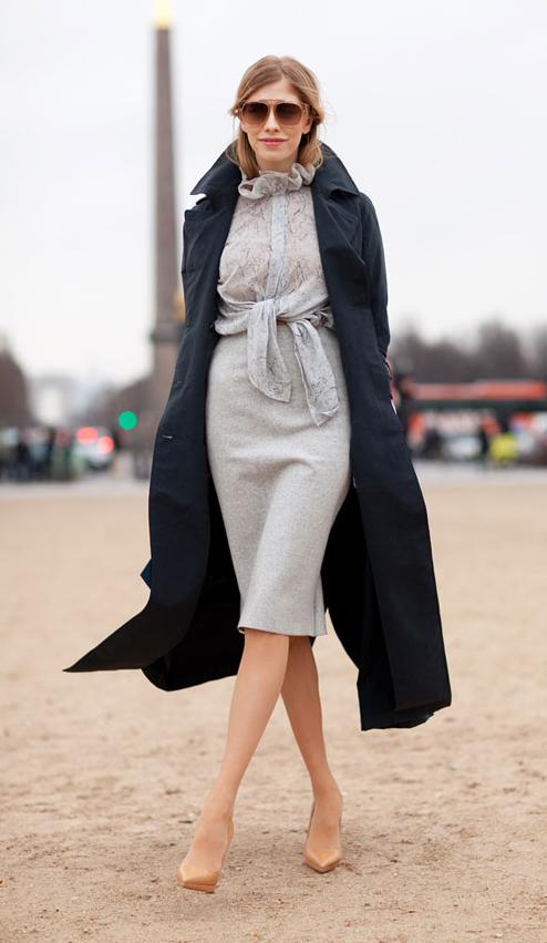 Elena Perminova in Paris, Photo via Harper's Bazaar