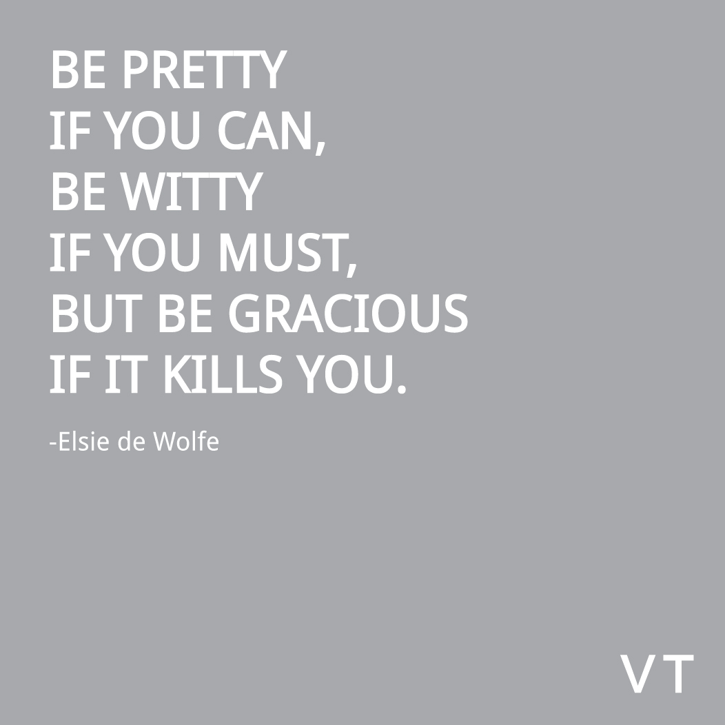Else de Wolfe Be Pretty