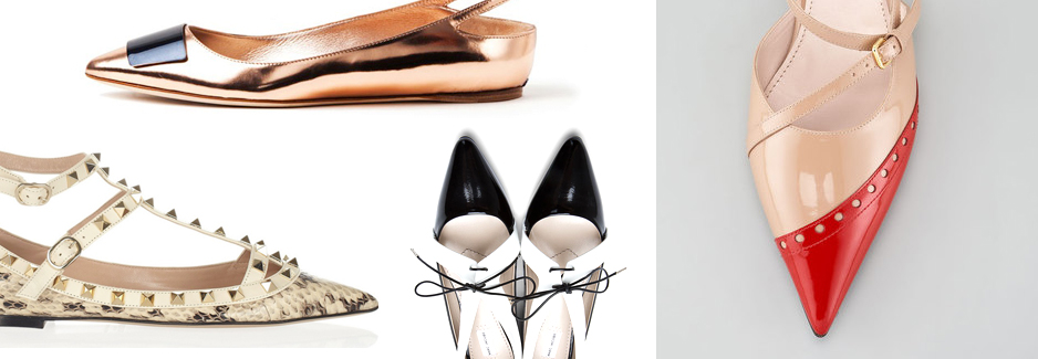 Pointed Toe Flats Featured