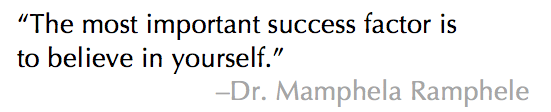 Dr. Mamphela Rampale Quote from Women in the World Summit