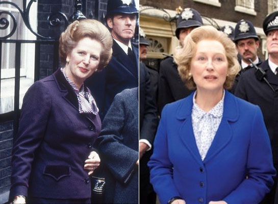 "Margaret Thatcher and Meryl Streep (Who played Thatcher in ""The Iron Lady"""