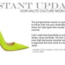 Instant Update: Dior Haute Couture Neon Pump