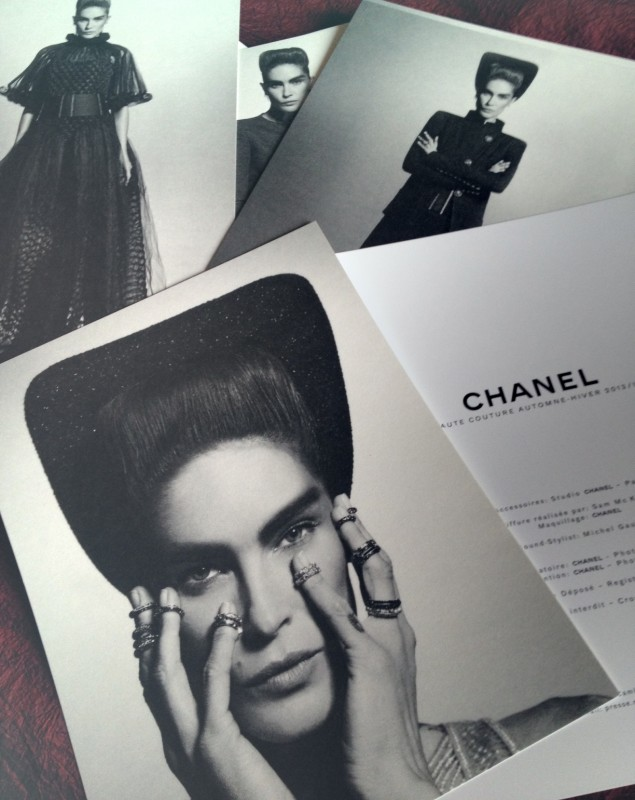 Chanel Haute Couture press materials