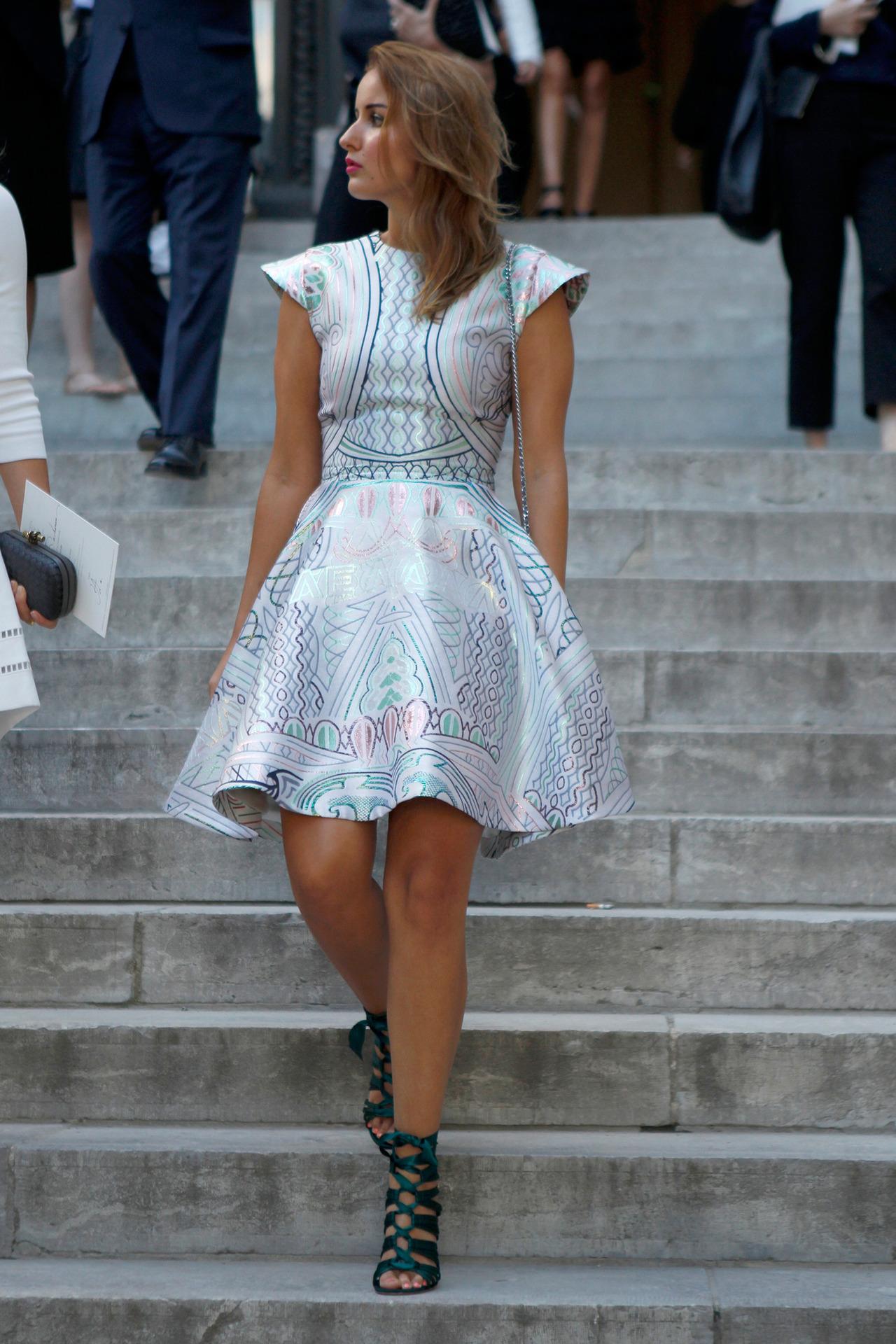 Haute Couture Street Style | Mary Katrantzou Babelona Jacquard Dress