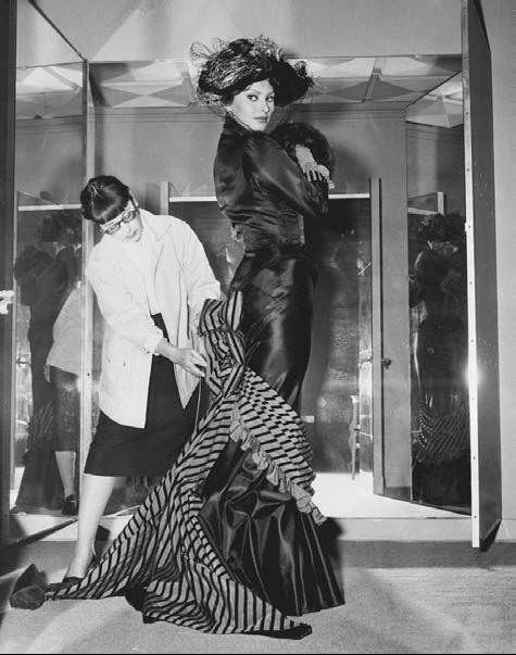 Edith Head Famous Dresses Edith Head tailors a dress on