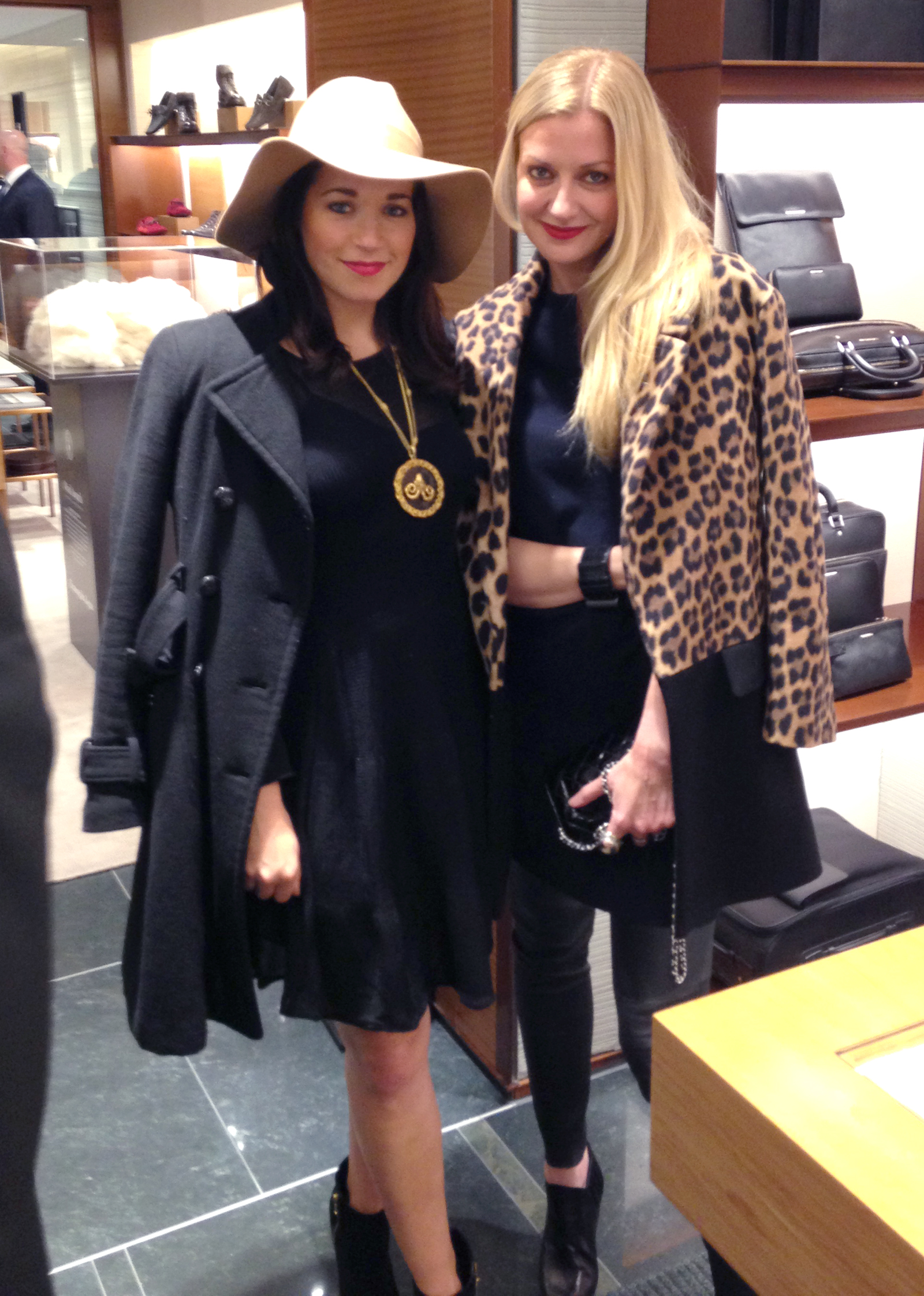 Jessica Sheehan and Lisa Marie at Zegna reopening in Chicago