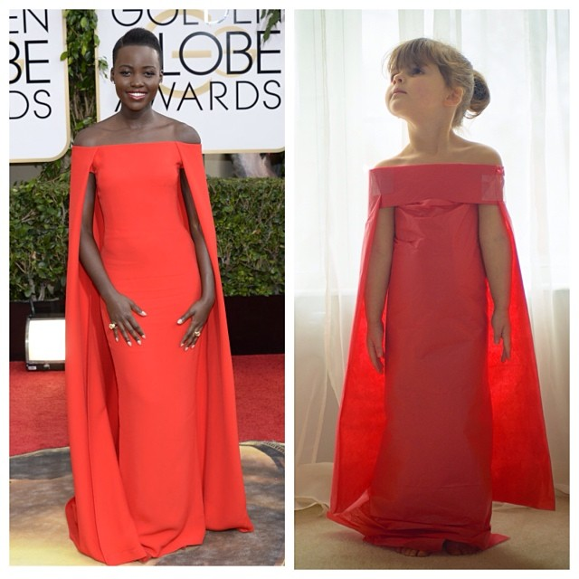 Lupita Nyongo's Ralph Lauren Cape Gown - #fashionbymayhem version