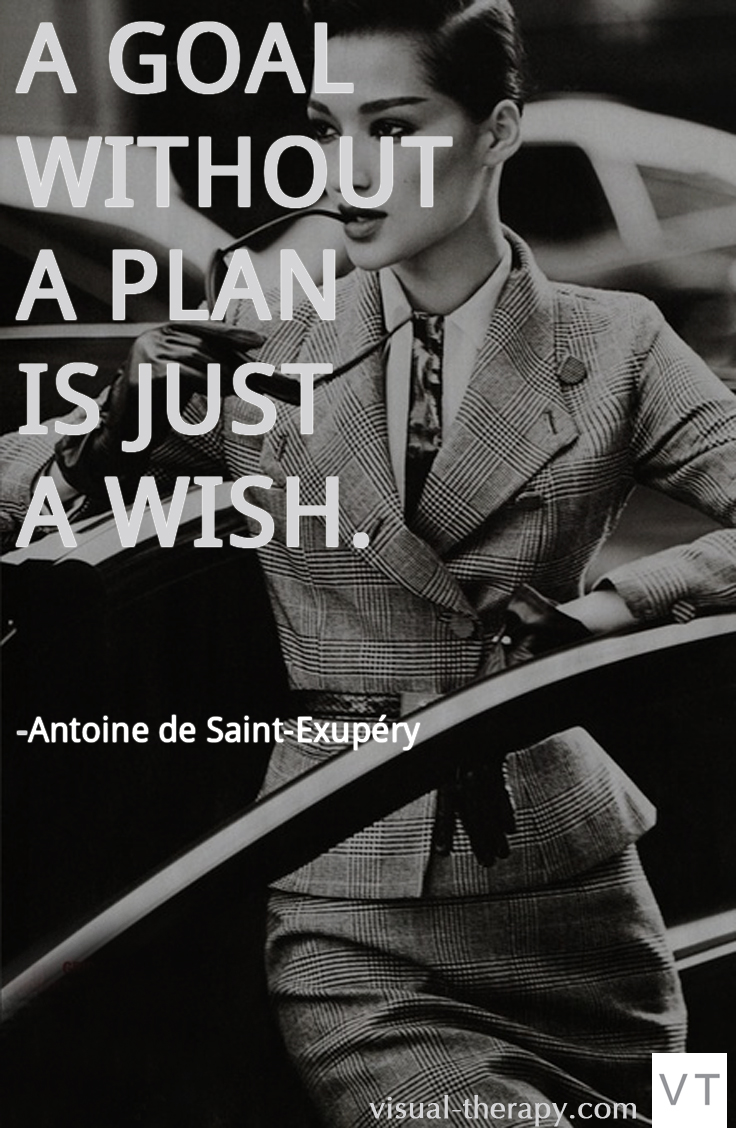 A goal without a plan is just a wish. Antone de Saint-Exupery