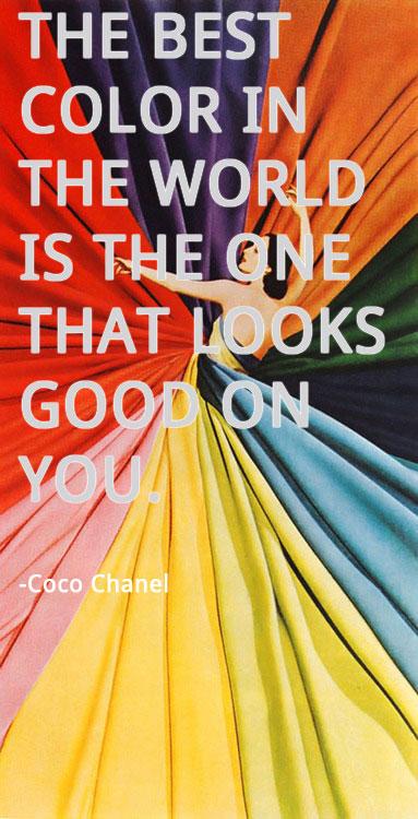 Coco Chanel Color Quote