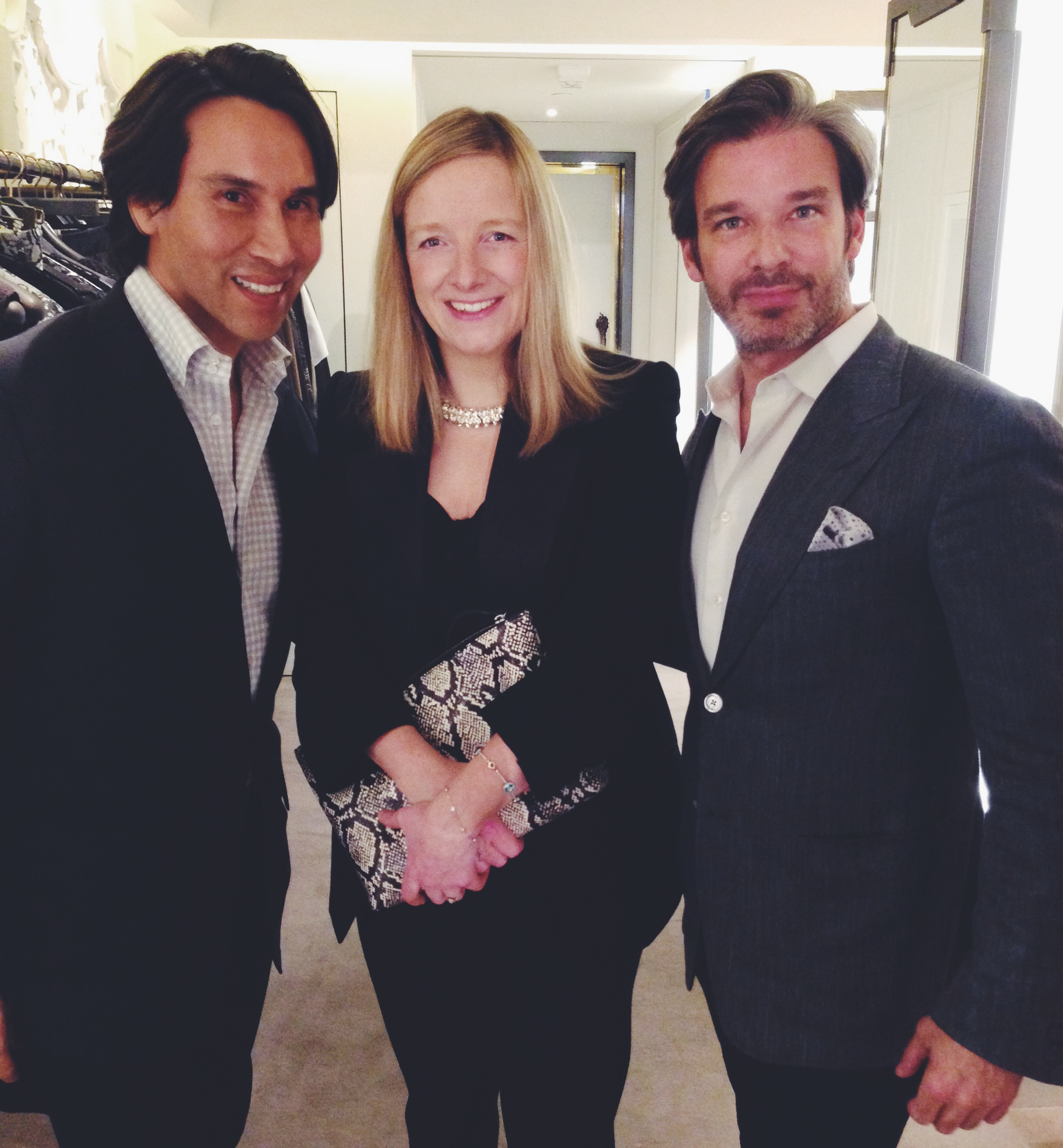 Jesse Garza and Joe Lupo with Sarah Burton