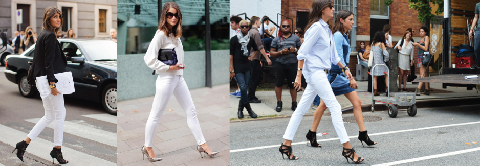 White Jeans Street Style
