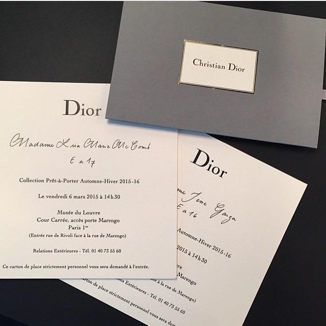 Paris Fashion Week Diary Dior Fall 2015 Visual Therapy