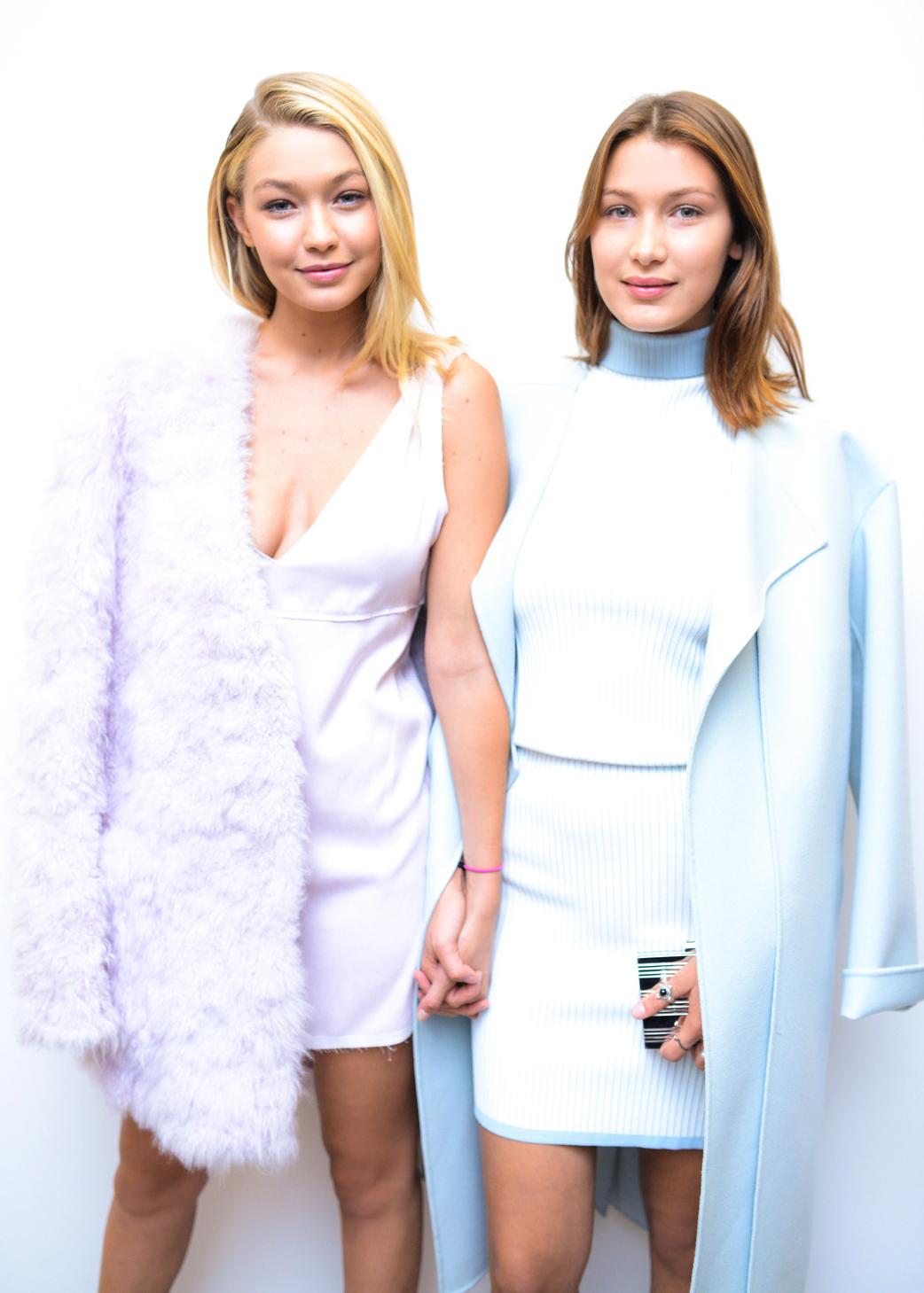 Gigi and Bella Hadid Pastels Calvin Klein Vogue